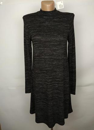 Платье новое красивое трикотажное под горло h&m uk 6/34/xs