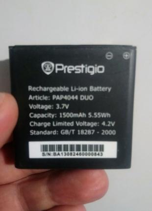 Аккумулятор PAP4044 для Prestigio MultiPhone 4044 DUO, 1500мAh
