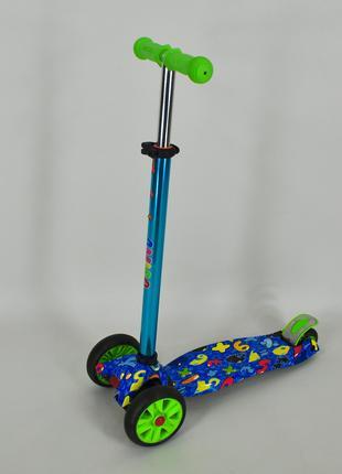 Самокат трехколесный Ecoline Jetta детский голубой