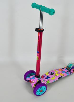 Самокат трехколесный Ecoline Jetta детский розовый