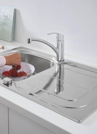 Набор кухонная мойка Grohe K300 + смеситель Grohe Eurosmart