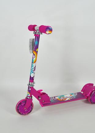 Cамокат Amigo Sport Montana детский трехколесный розовый