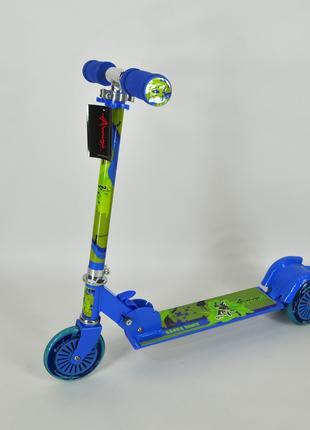 Cамокат Amigo Sport Montana детский трехколесный синий