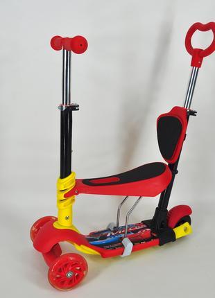 Самокат беговел QD Scooter PH5 3 в 1 красный