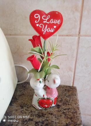 Статуэтка подарок ко дню святого валентина