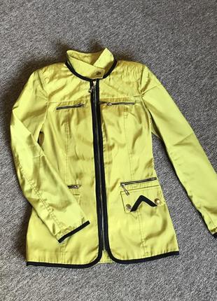 Удлиненная легкая куртка, плащ, ветровка размер 40-42, xxs