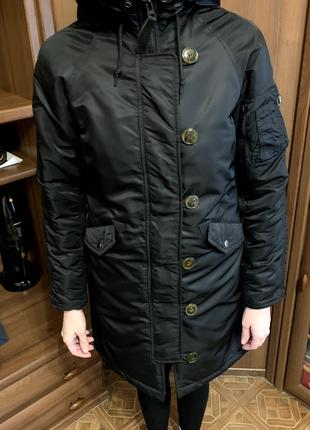Зимняя женская куртка Alpha Industries ELYSE PARKA Black