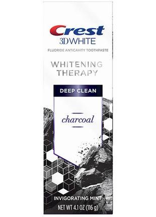 Отбеливающая зубная паста с углем crest 3d white charcoal deep...