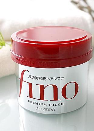 Маска для поврежденных волос shiseido fino premium touch hair ...