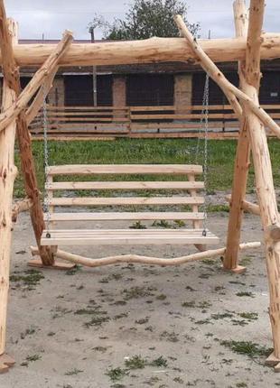 Виготовляємо дерев'яні гойдалки садовий мебель