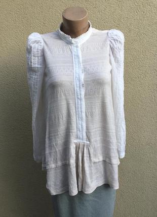 Блуза,рубаха,кофта,ажур,трикотаж,кружево,этно,бохо стиль,high-...