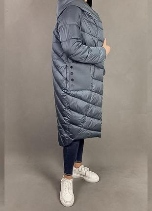 Пуховик одеяло кокон объёмная куртка  на магнитах оверсайз