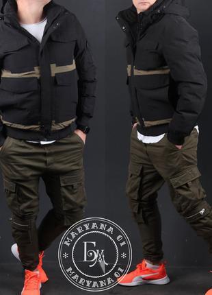 Стильная зимняя куртка / черная