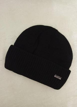 Мужская шапка с отворотом большого размера на флисе теплая зим...