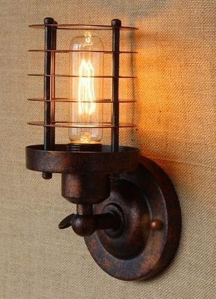 Стильный ретро бра + лампа Эдисона
