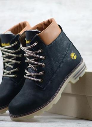 Натуральная кожа зимние кожаные детские подростковые ботинки