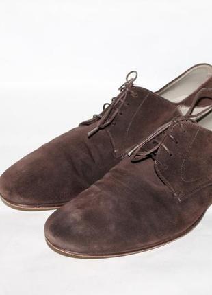 Замшевые туфли hugo boss 41 размер