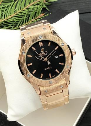 Металлические наручные часы Hublot Geneve Gold / Мужские