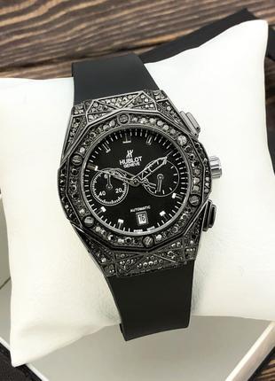 Женские часы Hublot Geneve Diamonds Black Classic