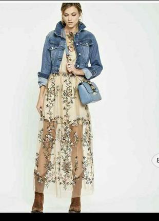 Шикарное дорогое платье италия denny rosse 48