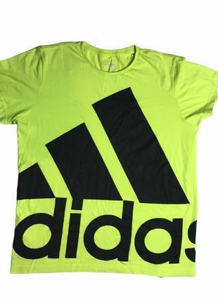 Хлопковая футболка adidas essentials big logo