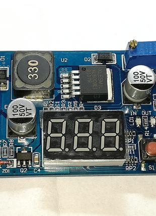 DC-DC повышающий преобразователь напряжения XL6009 с вольтметром
