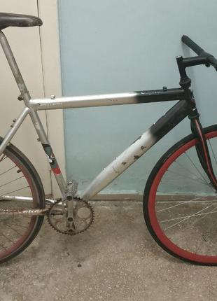 Велосипед под восстановления, детали, запчасти, рама, колеса