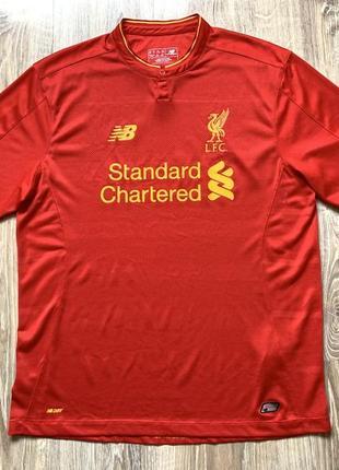 Мужская футболка форма new balance fc liverpool 2016 2017 home...