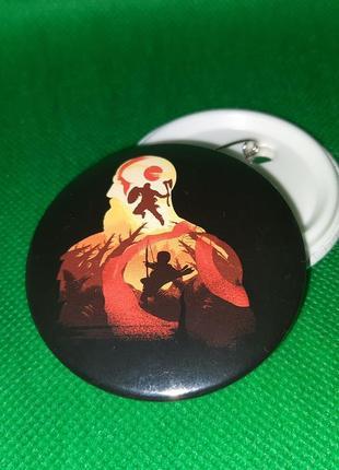 Круглый значек значок badge из игры god of war