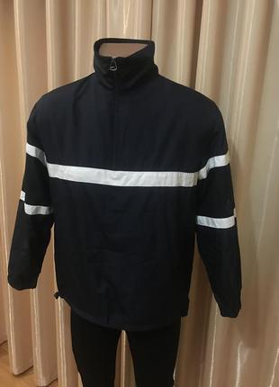 Куртка ветровка анорак синяя kappahl