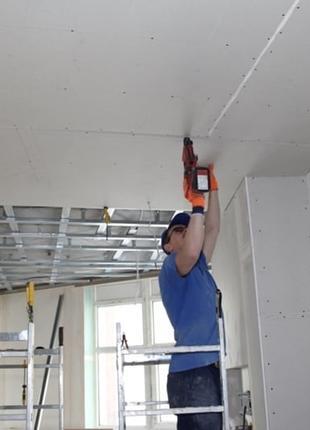 Гипсокартон стеновой / потолочный, обычный / влагостойкий