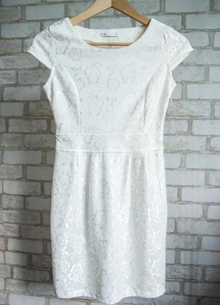 Распродажа! очень красивое ажурное белое платье от oodji