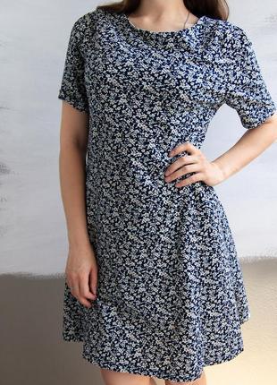 Распродажа! платье в цветочек от next с вырезом на спине