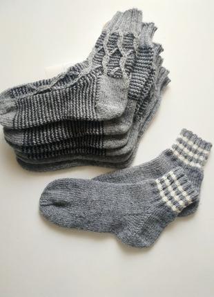 Вязаные носки мужские