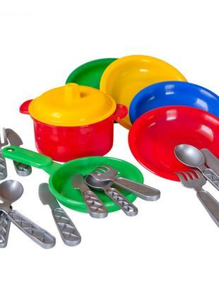 Набор детской посудки, детская посудка Технок