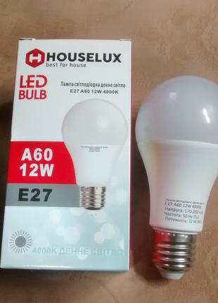 Светодиодная (LED) лампа А60 12W E27 4000K.