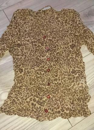 Эффектная леопардовая блузка