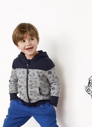 Теплая кофта для мальчика lupilu 110/116 худи толстовка
