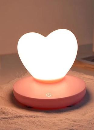 АКЦИЯ! Силиконовый светильник ночник Сердце подарок ко Дню Влю...