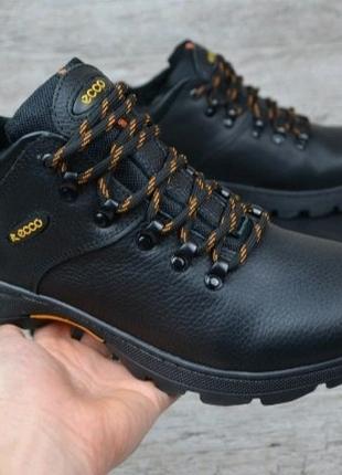 Зимние кожаные ботинки ecco 41р.