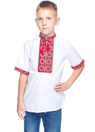 Сорочка Вишиванка для хлопчика Милодар (міткаль біла)