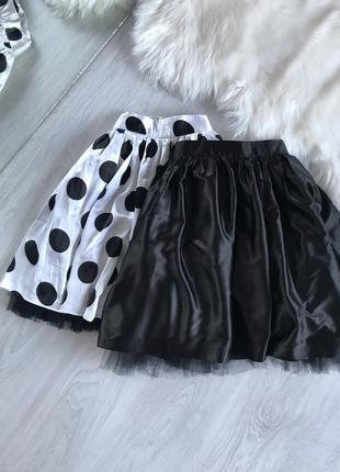 Атласная юбка пачка с фатином