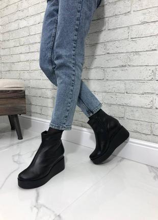 😍деми ботинки материал : натуральная кожа