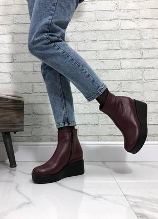 Деми ботинки материал : натуральная кожа🔥