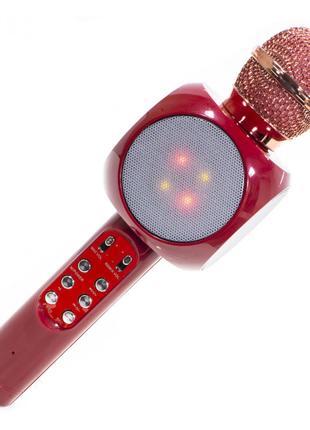 Беспроводной Микрофон Караоке WSTER WS-1816. (Красный) (3 Цвета)