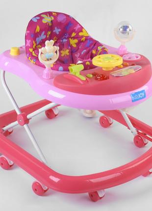 Дитячі ходунки з ігровою музичною панеллю JOY  TS-05058, світло