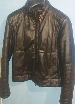 Куртка bikkembergs кожаная 52 р.