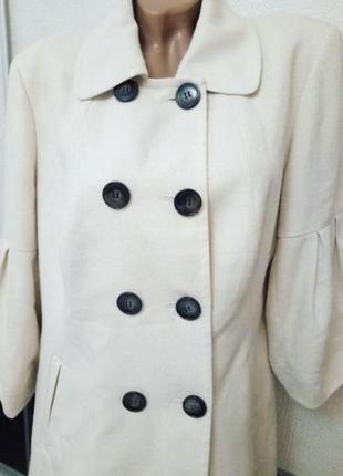 Белое весеннее пальто легкий плащ next