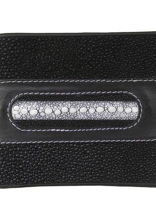 Кошелек портмоне бумажник гаманець мужской из кожи ската