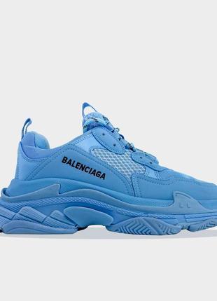 Кроссовки женские баленсиага голубые